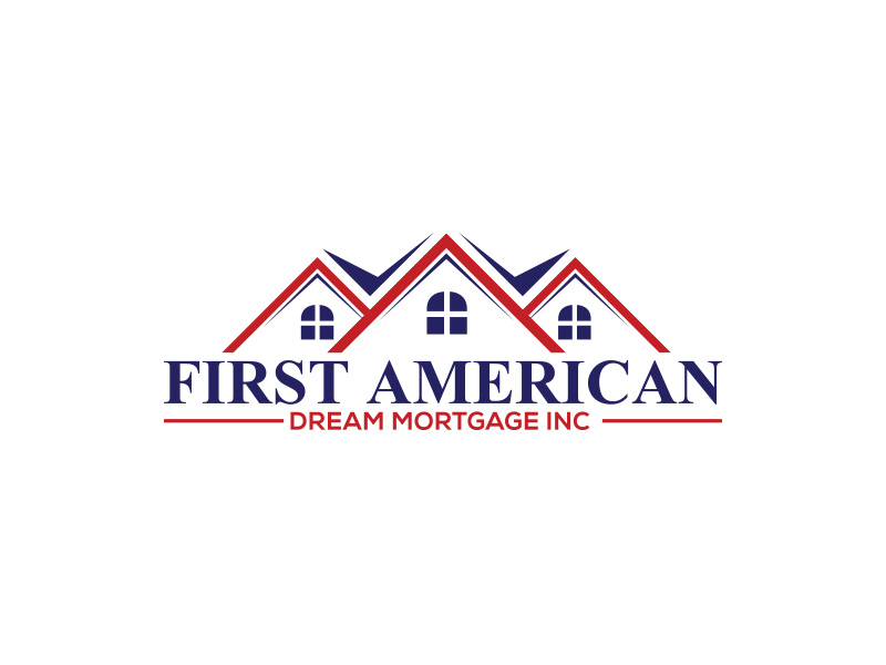 First American Dream Mortgage Inc logo design by eddesignswork