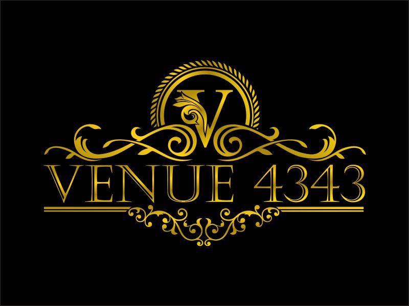 VENUE 4343 logo design by bosbejo