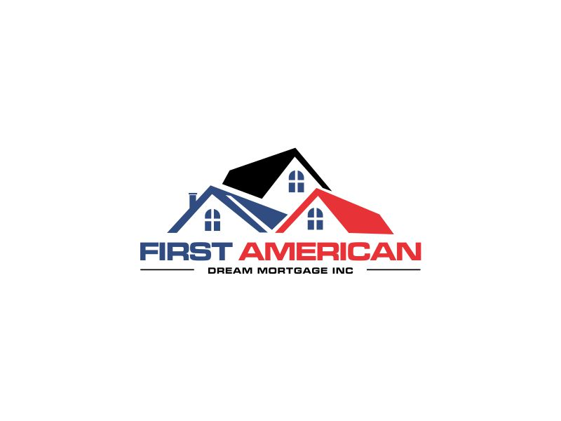First American Dream Mortgage Inc logo design by oke2angconcept