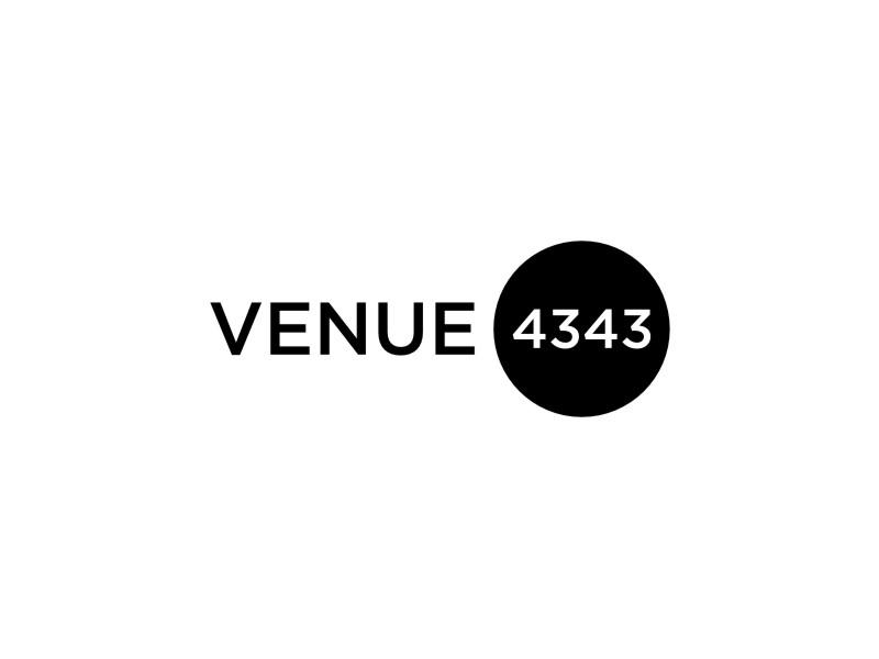 VENUE 4343 logo design by sheila valencia