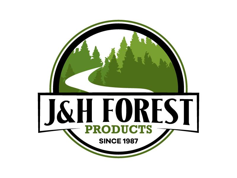 J&H Forest Products Logo Design