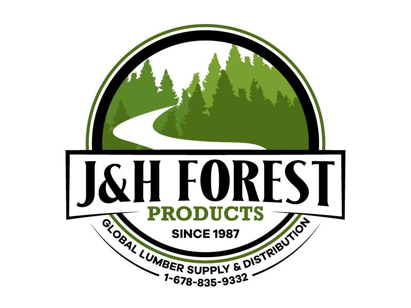 J&H Forest Products logo design by karjen