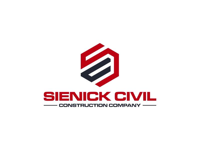 Sienick Civil Construction Company logo design by GassPoll