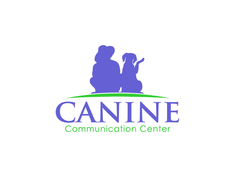 Canine Communication Center - you can check out the website at www.thewineglassranch.com logo design by Marianne