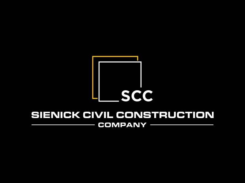 Sienick Civil Construction Company logo design by Greenlight