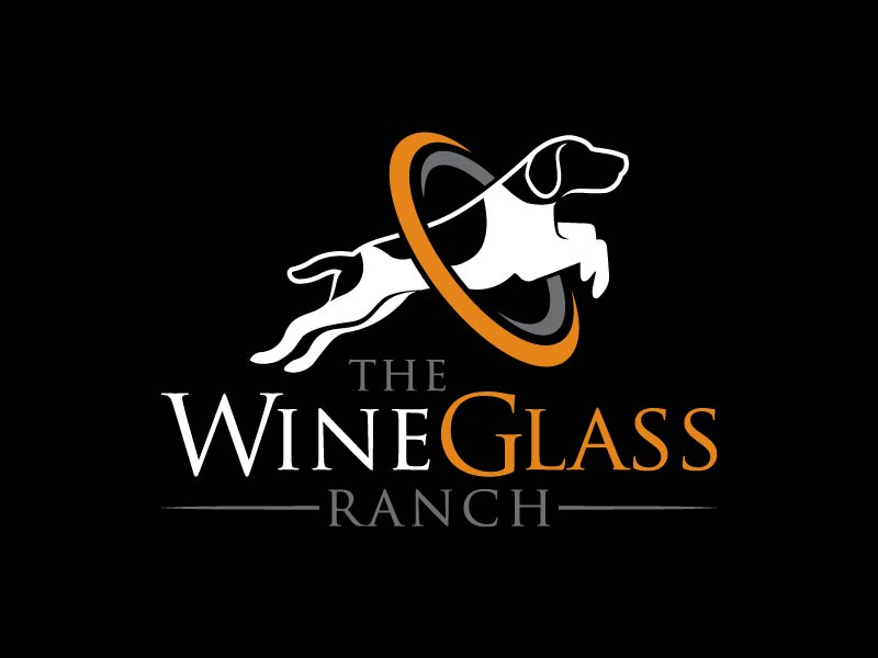 Canine Communication Center - you can check out the website at www.thewineglassranch.com logo design by Andri