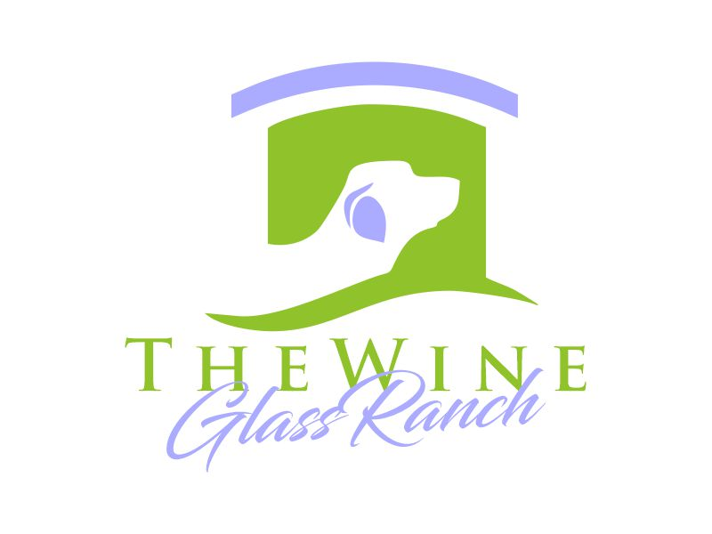 Canine Communication Center - you can check out the website at www.thewineglassranch.com logo design by Gwerth