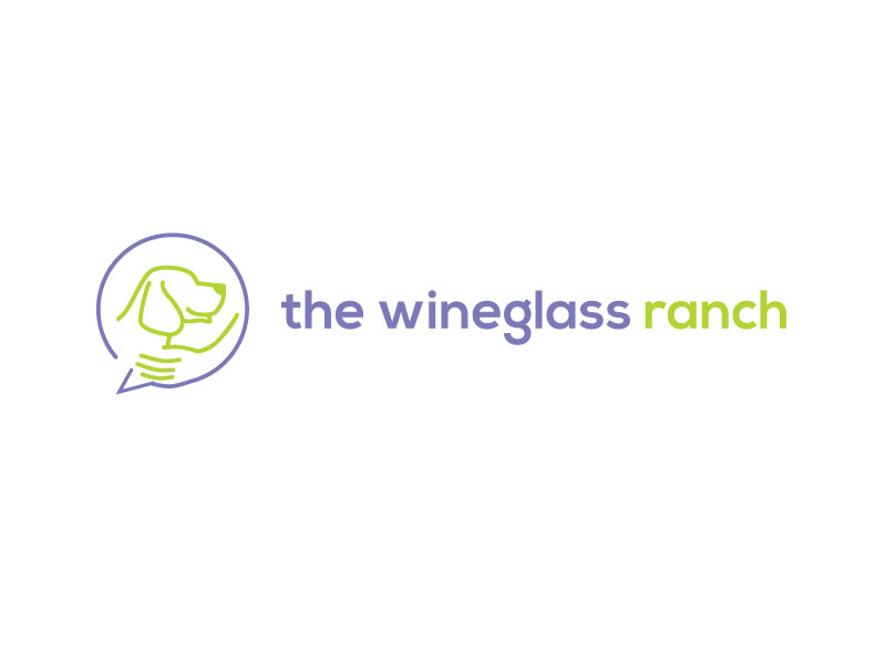 Canine Communication Center - you can check out the website at www.thewineglassranch.com logo design by yondi