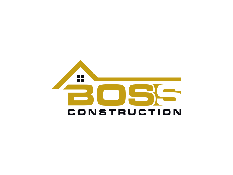 Boss Construction logo design by almaula