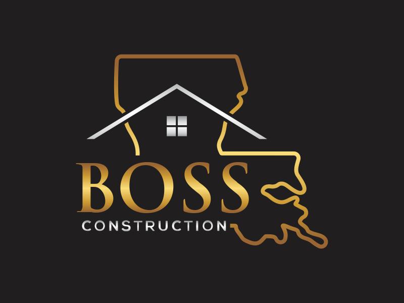 Boss Construction logo design by rokenrol