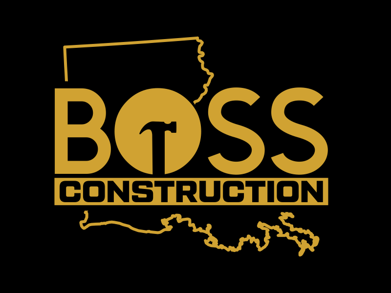 Boss Construction logo design by cikiyunn