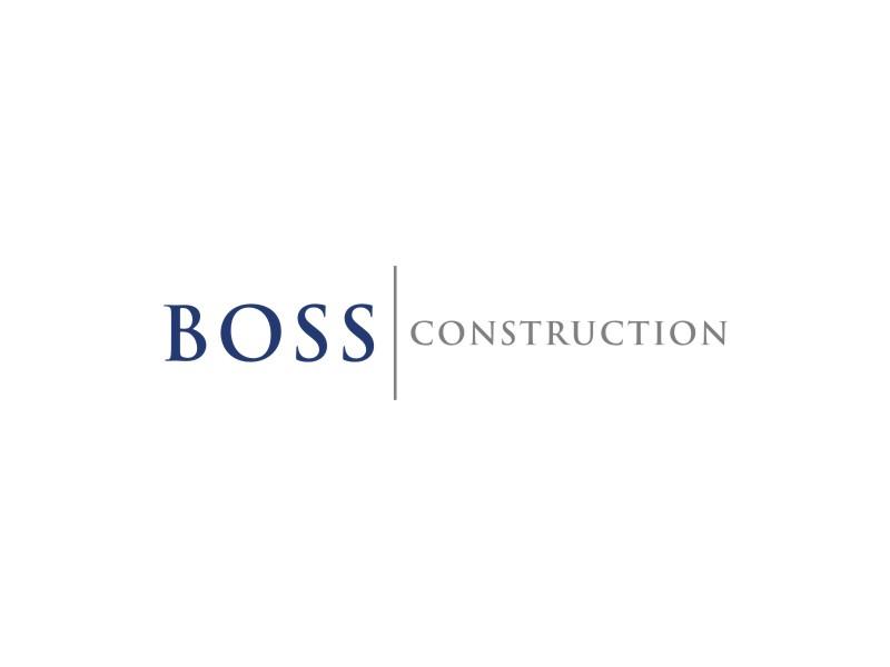 Boss Construction logo design by Arto moro