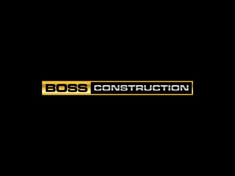 Boss Construction logo design by GassPoll