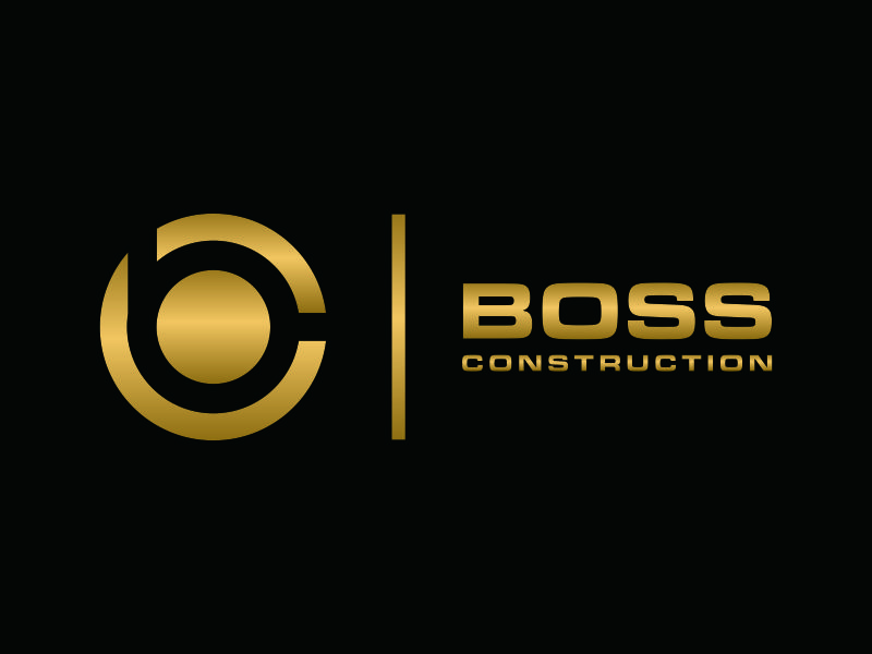 Boss Construction logo design by ozenkgraphic