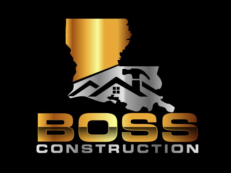 Boss Construction logo design by ElonStark