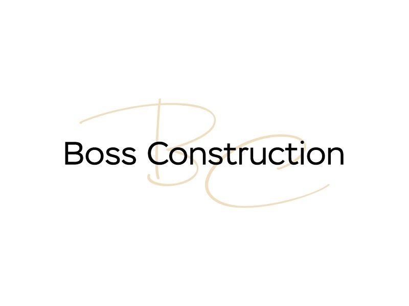 Boss Construction logo design by Gwerth