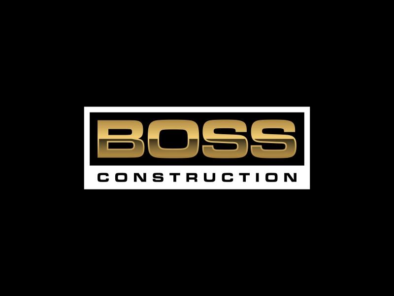 Boss Construction logo design by glasslogo
