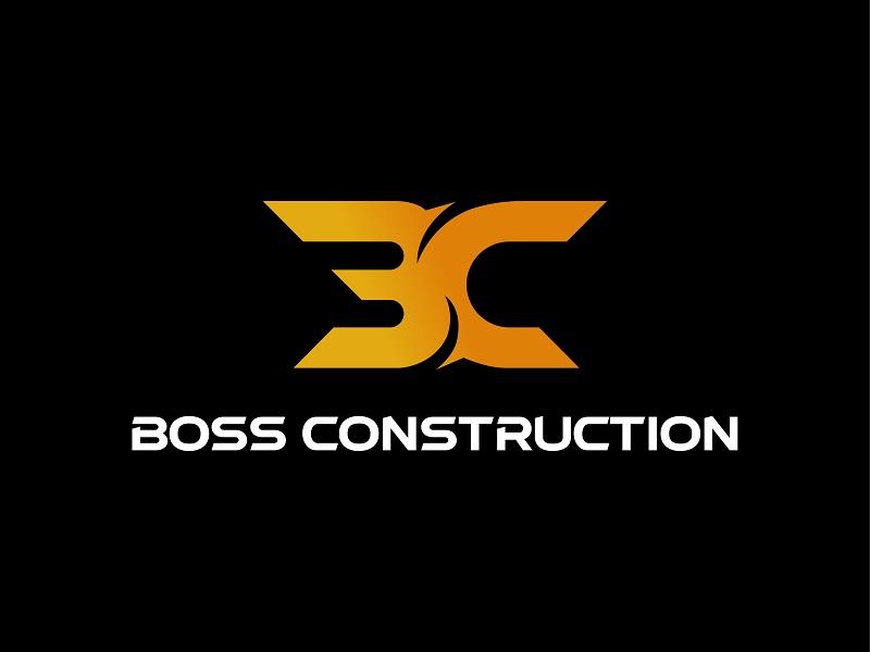 Boss Construction logo design by Akash Shaw
