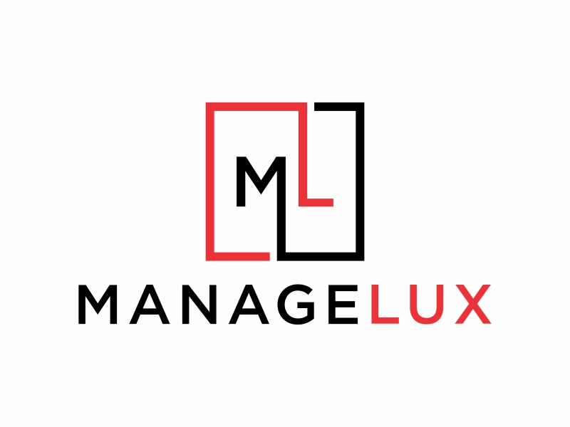 ManageLux logo design by glasslogo