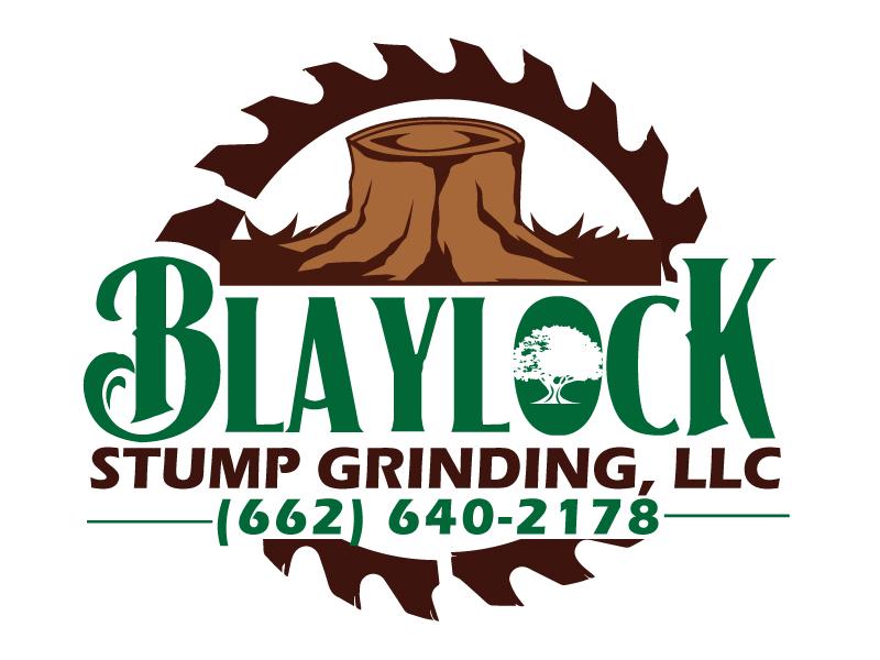 Blaylock Stump Grinding, LLC (662) 640-2178 Logo Design